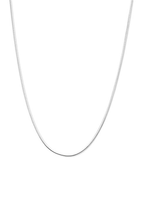 Belk Silverworks Silver-Tone Pure 100 Oval Herringbone Chain