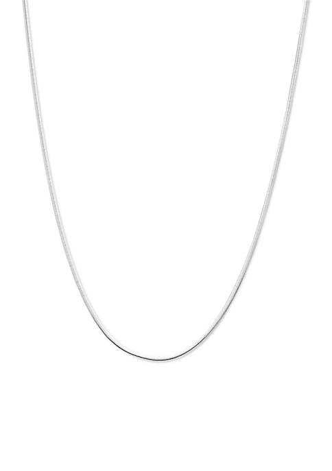 Belk Silverworks Silver-Tone Magic Oval Chain Necklace