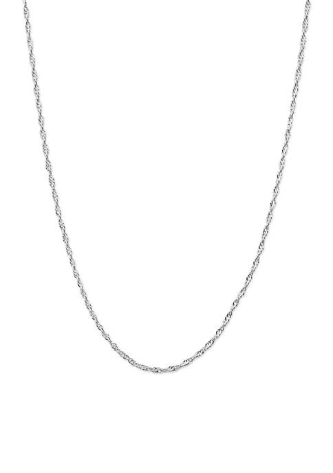 Belk Silverworks Silver-Tone Twisted Chain Necklace