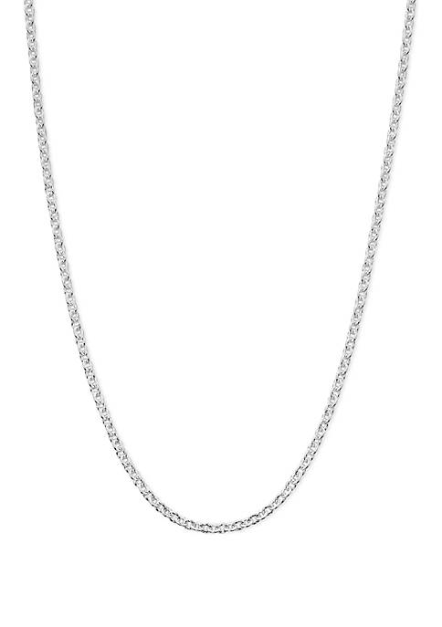 Etched Oval Link Necklace