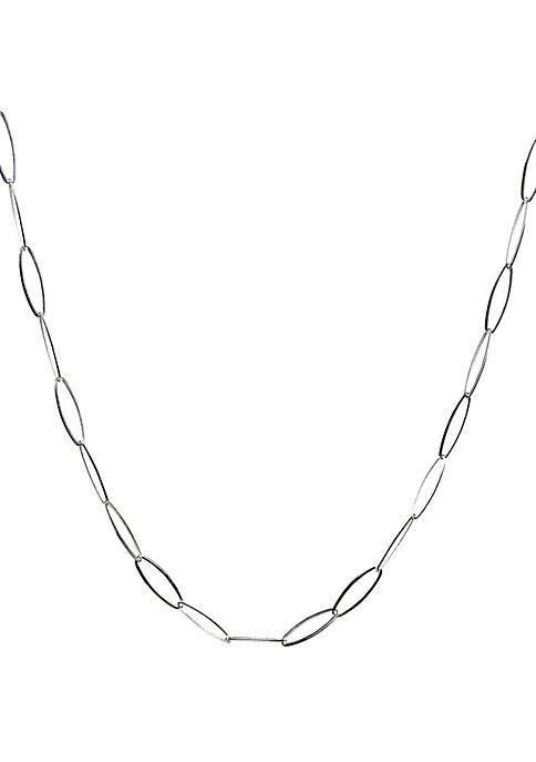 Belk Silverworks Silver Tone Oval Link Chain Necklace