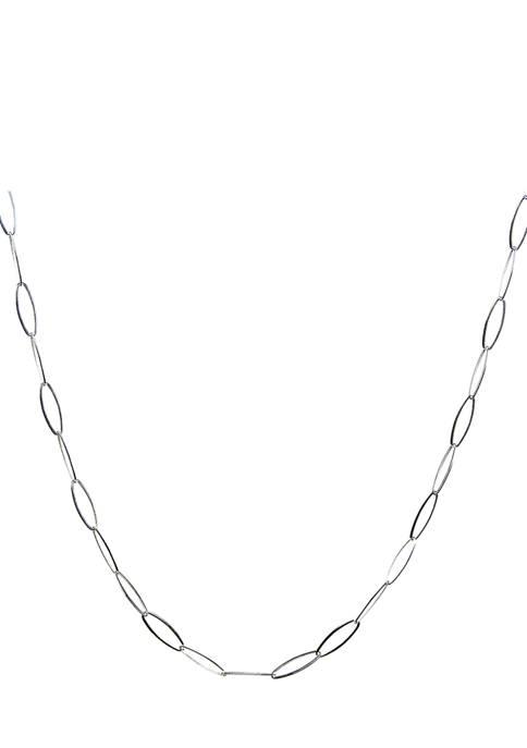 Belk Silverworks 24 Inch Silver Tone Oval Link