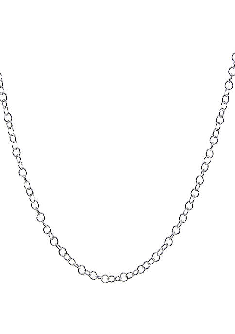 Silver Tone Multi Round Link Necklace