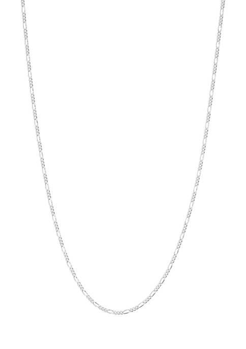 Belk Silverworks Silver Tone Figaro Chain