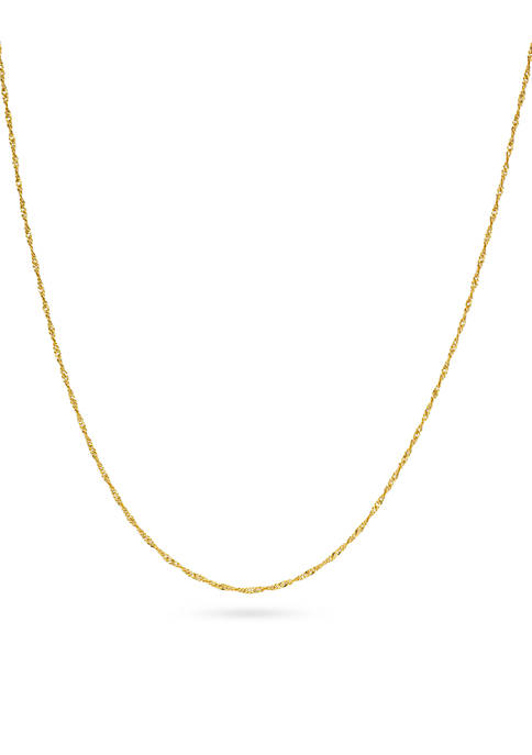 Belk Silverworks Gold-Tone Pure Singapore Chain Necklace
