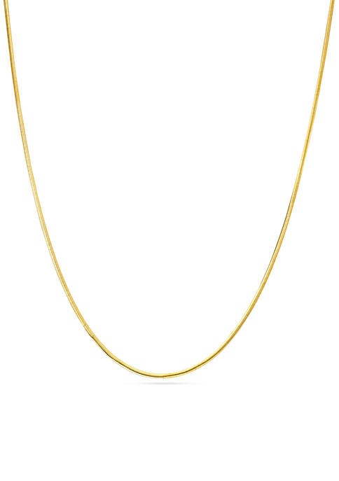 Belk Silverworks Gold-Tone Pure Herringbone Chain Necklace