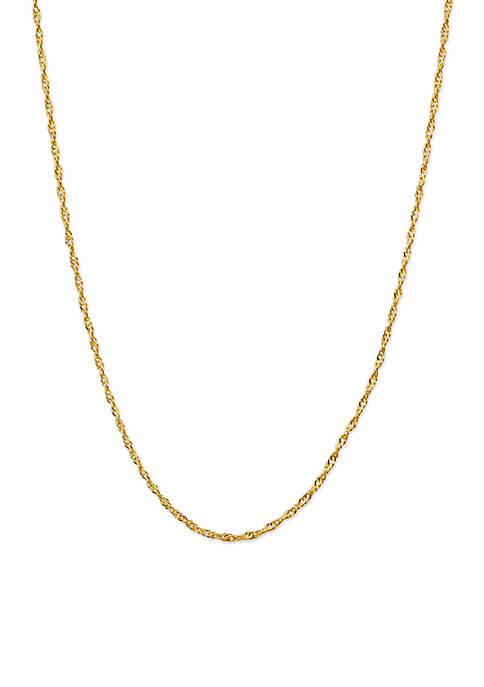 Belk Silverworks Gold-Tone Twisted Chain Necklace