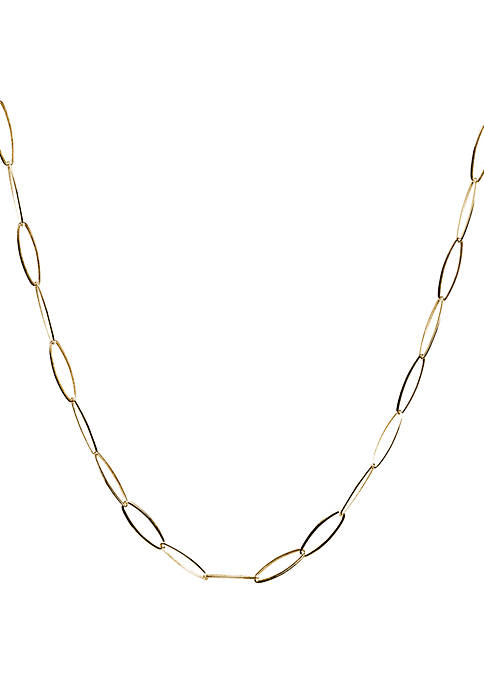 Belk Silverworks Gold Plated Oval Link Chain Necklace