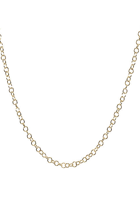 Belk Silverworks Gold Plated Multi Round Link Necklace