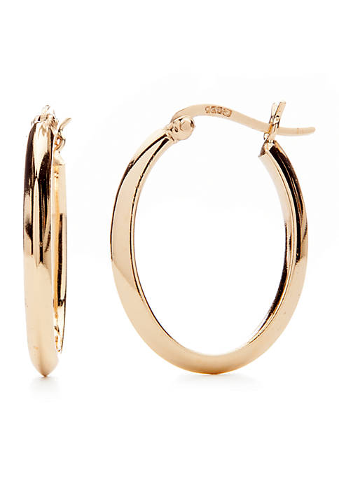 Belk Silverworks Gold-Tone Click Top Hoop Earrings