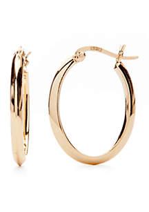 Belk Silverworks Gold-Tone Click Top Hoop Earrings