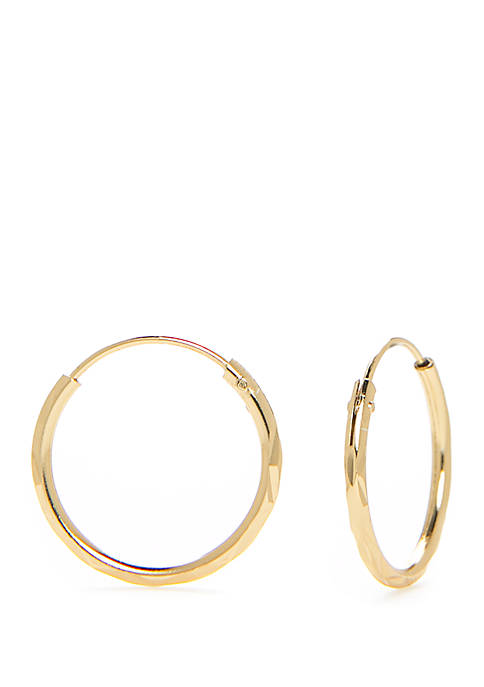 Belk Silverworks Sterling Silver Endless Hoop Earrings