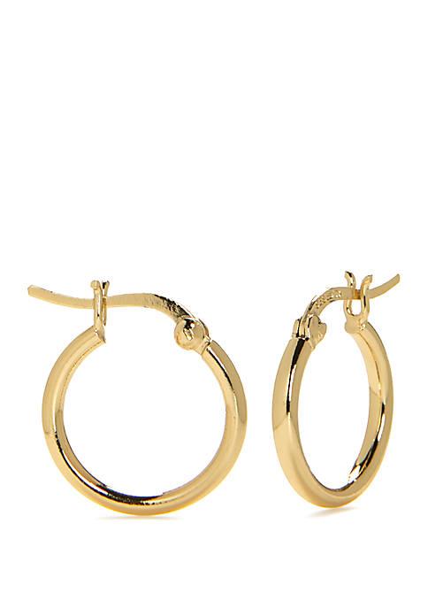 Belk Silverworks Sterling Silver Polished Huggie Hoop Earrings