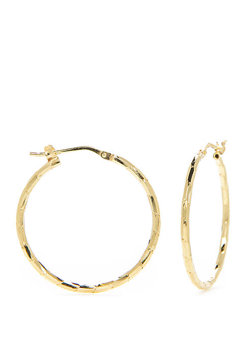 Belk Silverworks Sterling Silver Twisted Hoop Earrings
