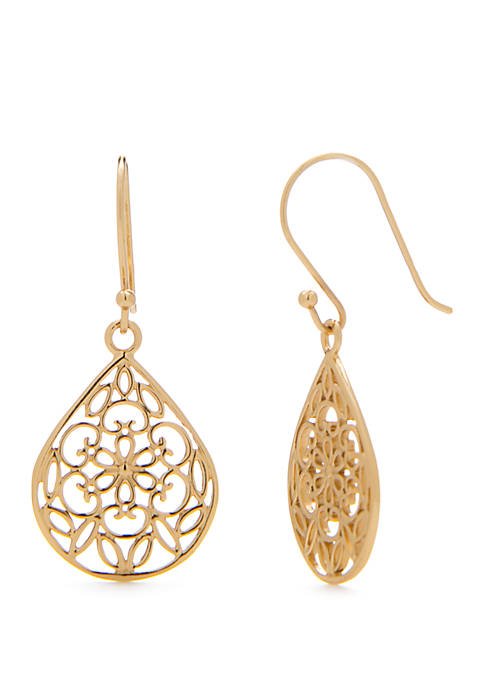 Belk Silverworks 24k Gold Over Sterling Silver Filigree