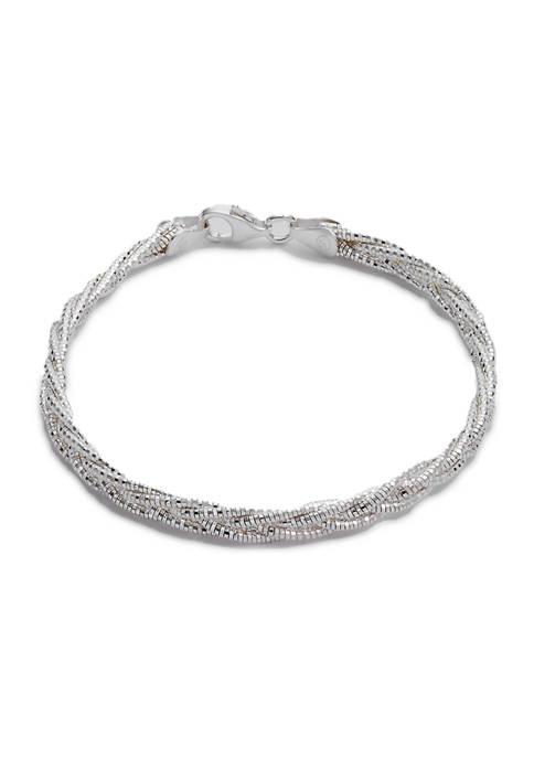 Primavera Italy Sterling Silver Braid Bracelet