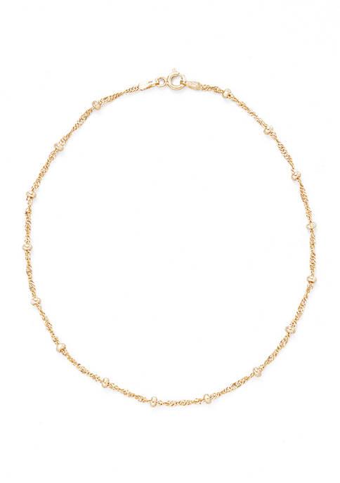 Belk Silverworks 10 Inch Beaded Chain Necklace