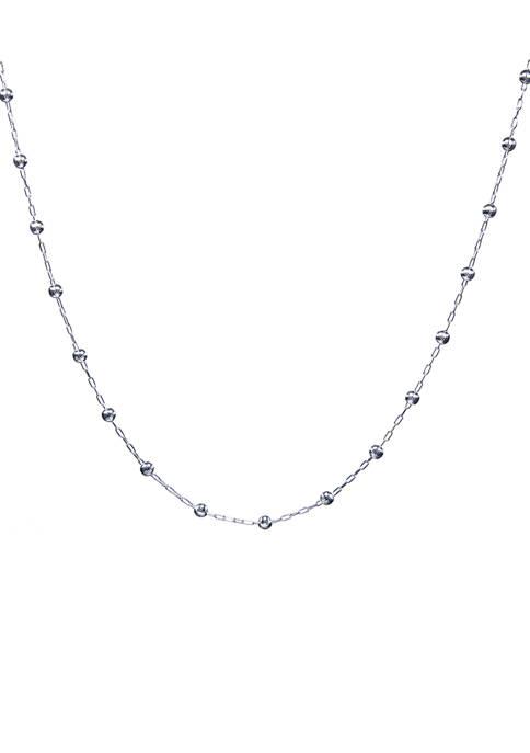 Belk Silverworks 18 Inch Linked Chain Necklace