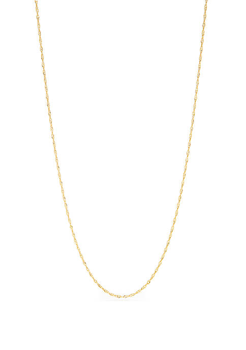 Sterling Silver Single Chain Necklace