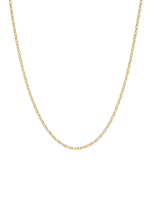 Belk Silverworks 20 Inch Rolo Chain Necklace
