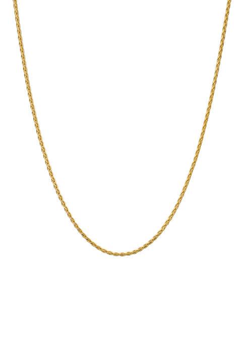Belk Silverworks 24 Inch Spiga Chain Necklace