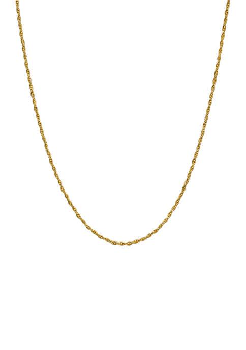 Belk Silverworks 18 Inch Bead Twist Chain Necklace