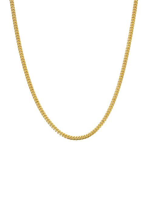 Belk Silverworks 24 Inch Miami Cuban Chain Necklace