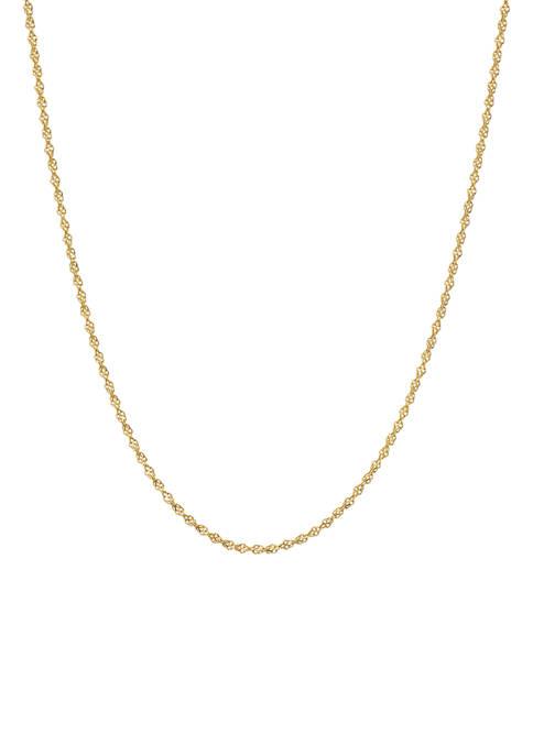 Belk Silverworks 20 Inch Spiga Chain Necklace