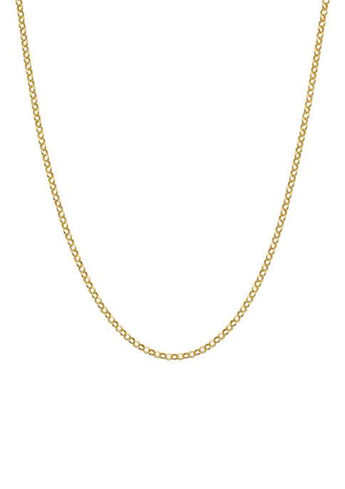 Belk Silverworks 16 Inch Rolo Chain Necklace