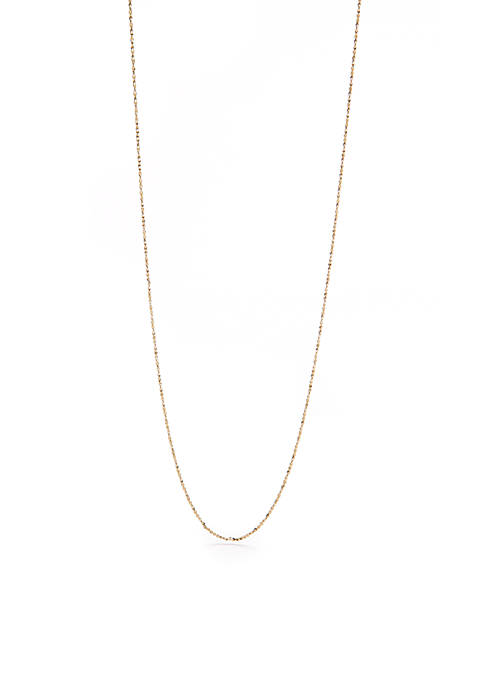 Belk Silverworks Gold-Tone Small Twist Chain Necklace