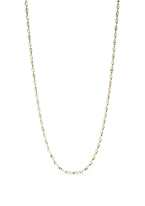 2-Tone Twist Necklace