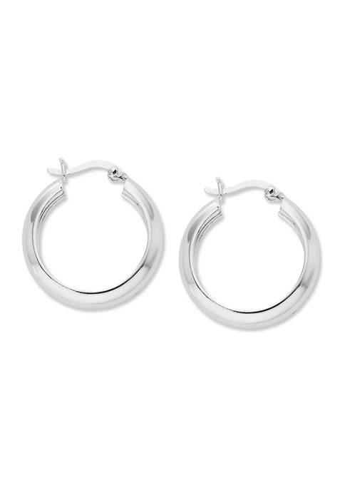 Belk Silverworks Round Hoop Earrings in Sterling Silver