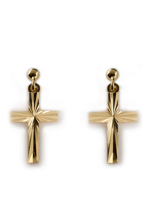 Belk Silverworks 24k Gold Over Sterling Silver Cross