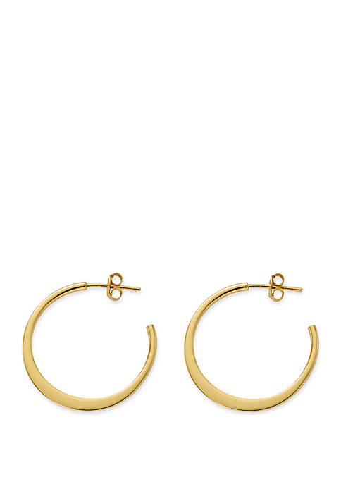 Polished Open Hoop Earrings