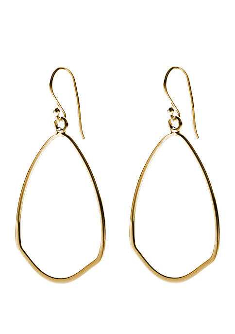 Belk Silverworks Gold Over Sterling Silver Oval Shaped