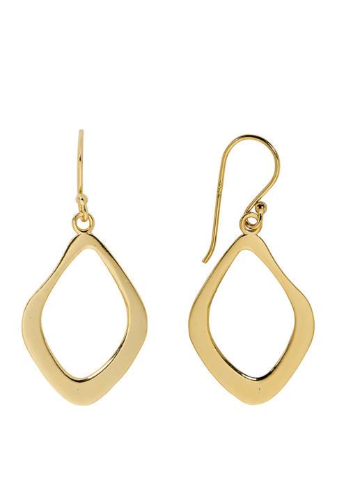 Belk Silverworks 38 Millimeter Flat Drop Earrings