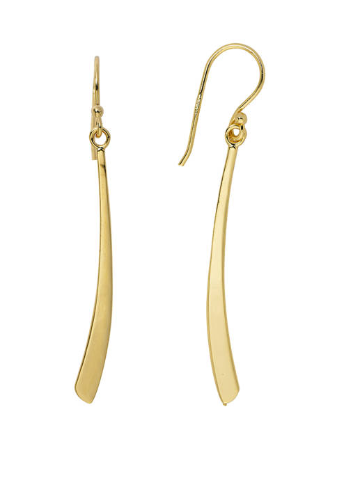 Belk Silverworks Gold Tone Stick Earrings