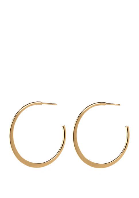 Belk Silverworks 35 Millimeter Flat Hoop Earrings
