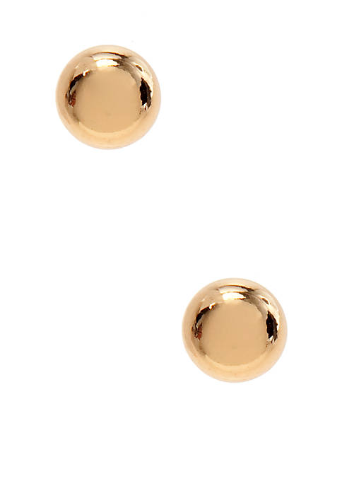 Belk Silverworks 24k Over Sterling Silver Ball Earrings