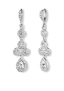 Crystal Pear Drop Earrings