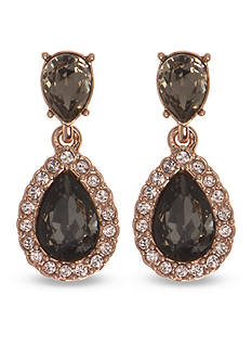 Givenchy Rose Gold Tone Stone Drop Earrings