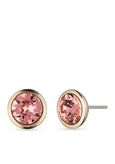 Givenchy Gold Tone Stone Stud Earrings