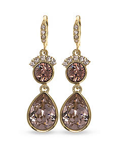 Givenchy Gold Tone Stone Drop Earrings