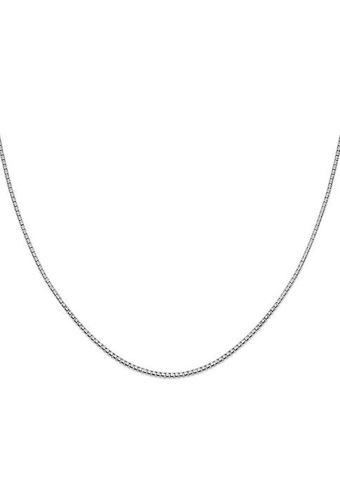 Southern Charm Sterling Silver Box Chain Necklace