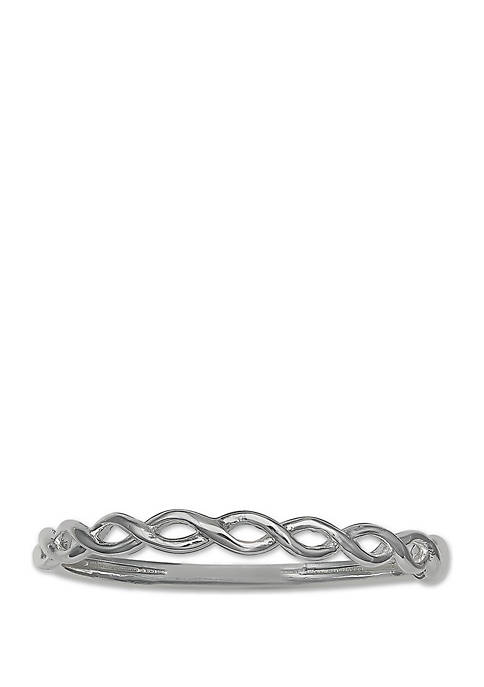 Polished Twisted Double Wire Ring