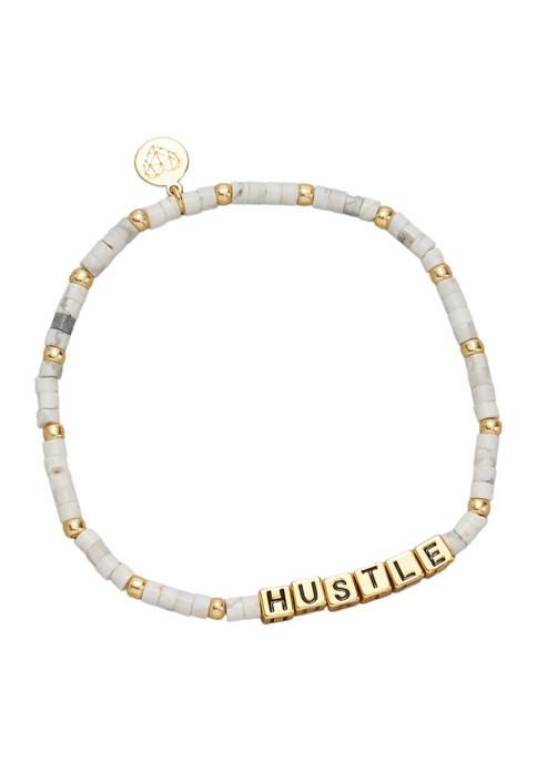 Gold Tone Hustle Bracelet