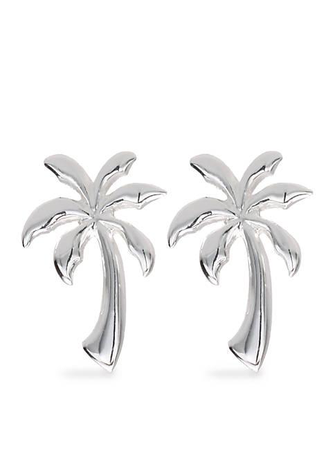 Belk Silverworks Palm Tree Stud Earrings