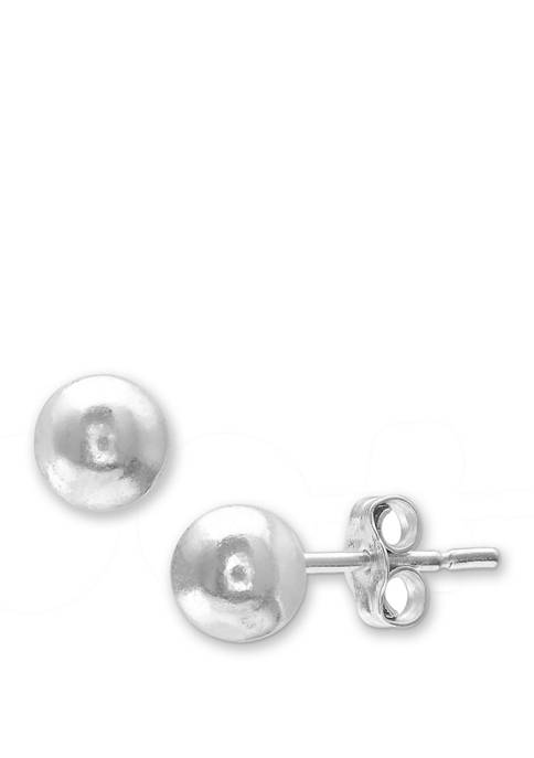 Belk Silverworks 6 Millimeter Polished Ball Stud Earrings