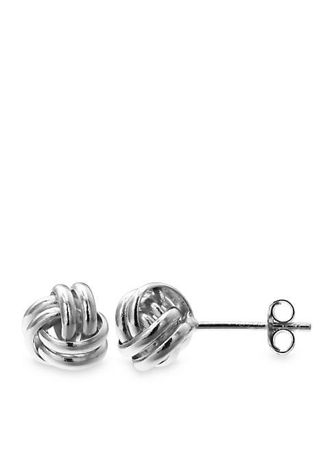 Belk Silverworks Simply Sterling Loveknot Stud Earrings