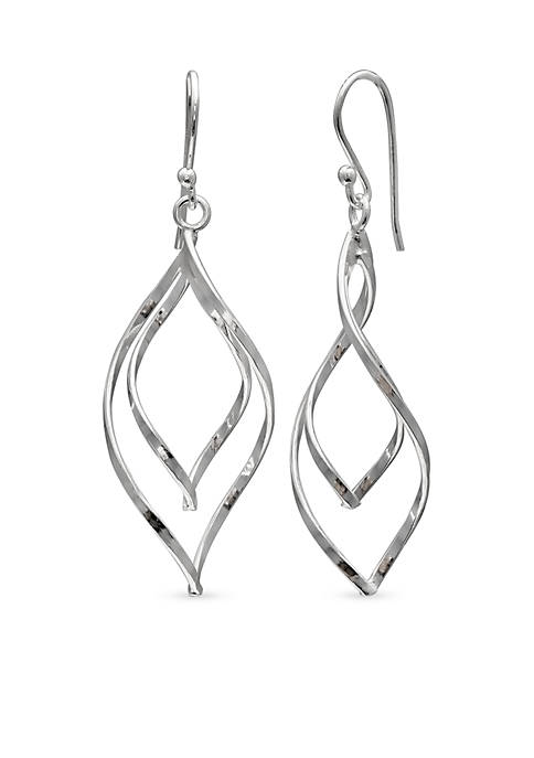 Belk Silverworks Simply Sterling Silver Double Twist Teardrop